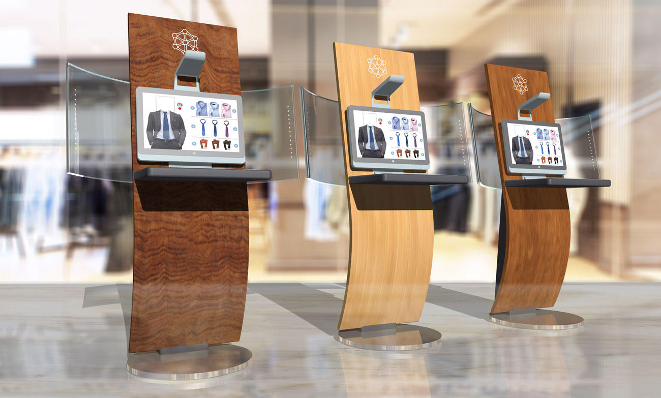 Fashion Kiosk con HP Sprout integrato